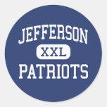 Jefferson Patriots Middle Saint Clair Shores Round Stickers