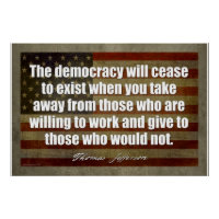 THOMAS JEFFERSON The democracy will cease to exist when you take Wall Quote