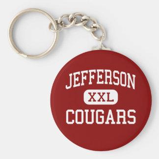 Jefferson - pumas - alto - empalme de Shenandoah Llavero Redondo Tipo Pin