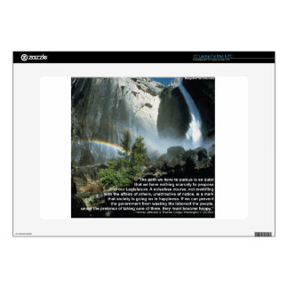 """Jefferson quote about limited Government 15"""" Laptop Decal"""