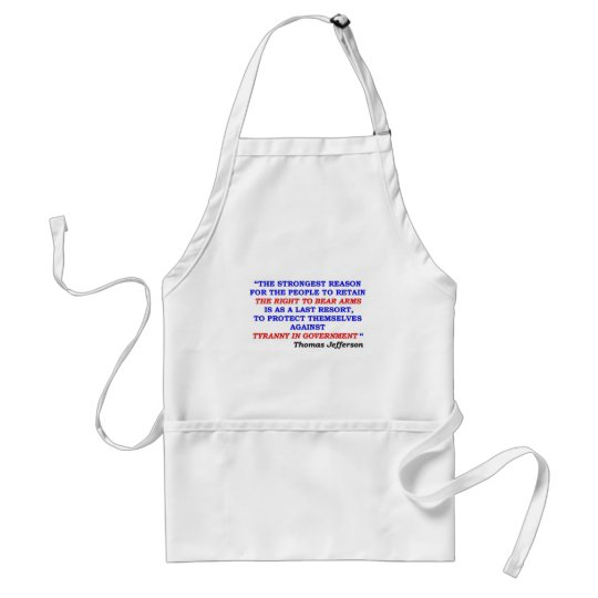 jefferson quote adult apron