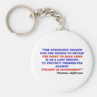 jefferson quote keychain