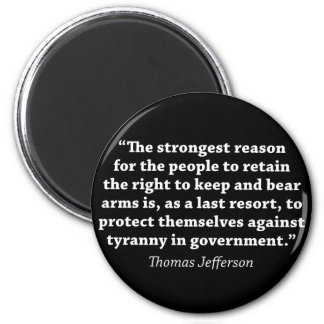 Jefferson: RIGHT TO BEAR ARMS Magnet