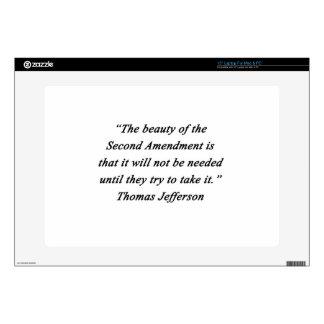 Jefferson - Second Amendment Laptop Skins