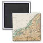 Jefferson, St Lawrence counties 2 Inch Square Magnet