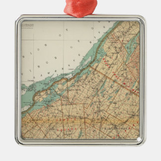 Jefferson, St Lawrence counties Metal Ornament
