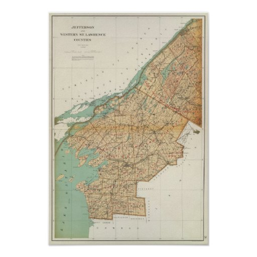 Jefferson, St Lawrence counties Poster