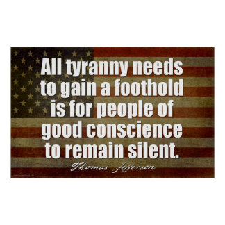 Jefferson: Toda la tiranía necesita… Impresiones