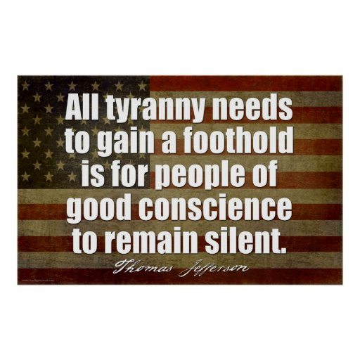 Jefferson: Toda la tiranía necesita… Póster