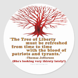 Jefferson Tree of Liberty Classic Round Sticker