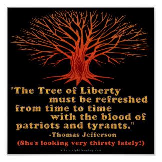 Jefferson Tree of Liberty Poster