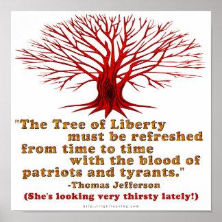 Jefferson Tree of Liberty Poster
