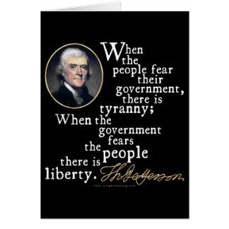 Jefferson Tyranny-Liberty Quote Card