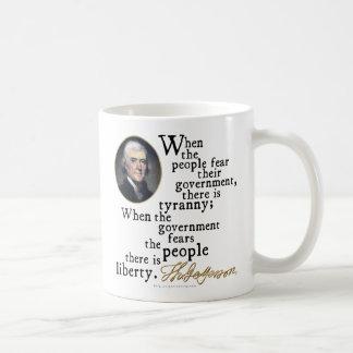 Jefferson Tyranny-Liberty Quote Coffee Mug