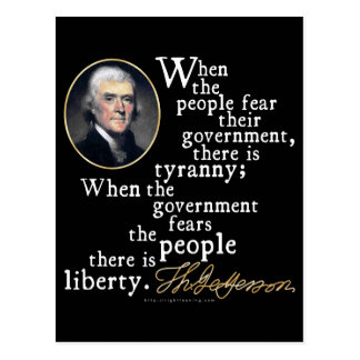 Jefferson Tyranny-Liberty Quote Postcard