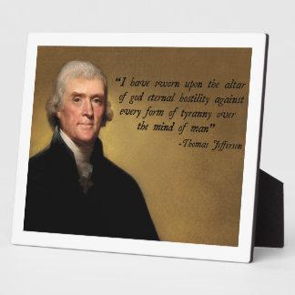 Jefferson Tyranny Quote Plaque