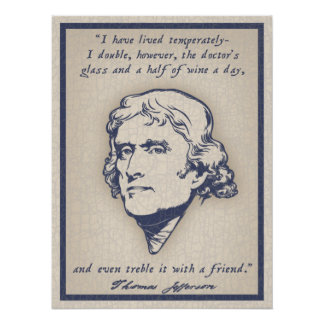 Jefferson - vino póster