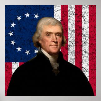 Jefferson y la bandera americana -- Frontera Impresiones