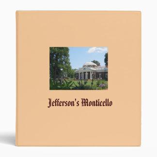 Jefferson's Monticello Avery Binder