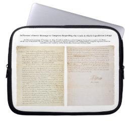 Jefferson's Secret Message to Congress Computer Sleeve