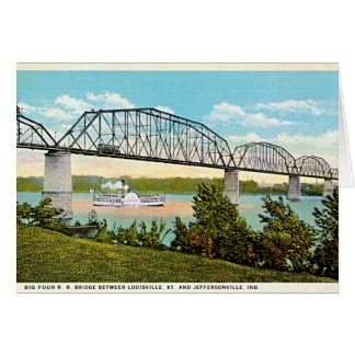 Jeffersonville, Indiana Bridge over Ohio 1920 Card