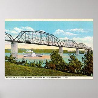 Jeffersonville, Indiana Bridge over Ohio 1920 Poster
