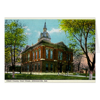 Jeffersonville, Indiana Clark Co Courthouse 1910 Greeting Cards