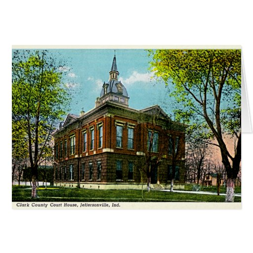 Jeffersonville, Indiana Clark Co Courthouse 1910 Card