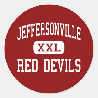 Jeffersonville - Red Devils - Jeffersonville Stickers
