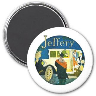 Jeffery Automobiles Advertisement 3 Inch Round Magnet