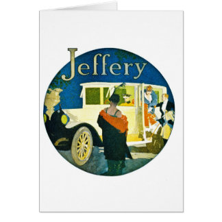 Jeffery Automobiles Advertisement Greeting Card