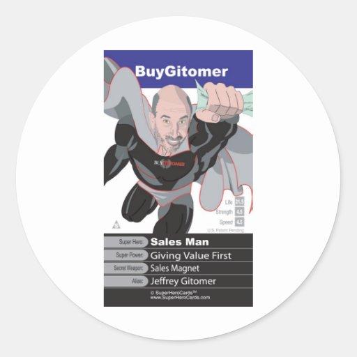 Jeffrey Gitomer Classic Round Sticker