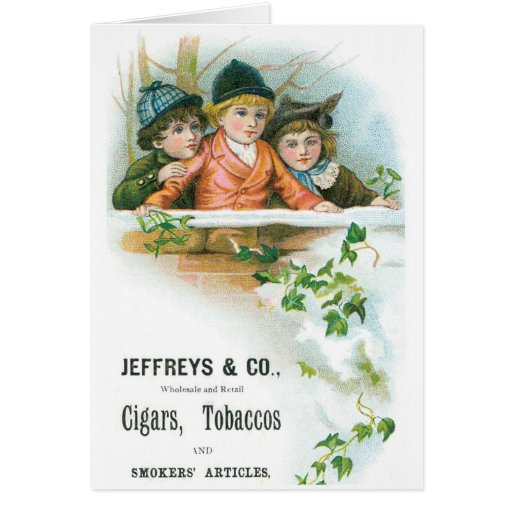 Jeffreys and Co Cigars and Tobacco Greeting Card