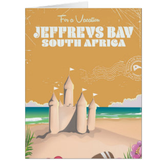 Jeffreys Bay South Africa vintage travel poster Card