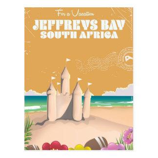 Jeffreys Bay South Africa vintage travel poster Postcard