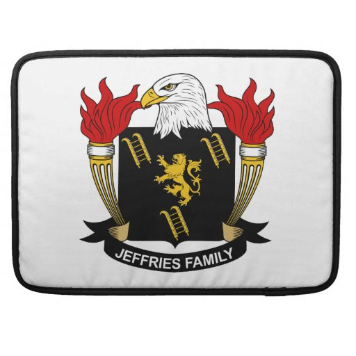 Jeffries Family Crest Sleeves For MacBooks