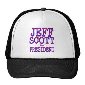 jeffscott para los pres gorras de camionero