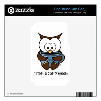 Jeffy The Jittery Owl Blue Mug Decals For iPod Touch 4G