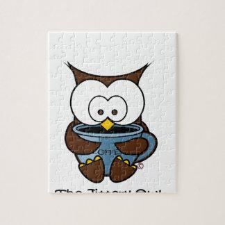 Jeffy The Jittery Owl Blue Mug Jigsaw Puzzle