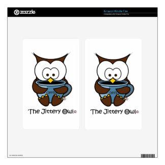 Jeffy The Jittery Owl Blue Mug Skins For Kindle Fire