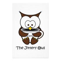 Jeffy The Jittery Owl Stationery