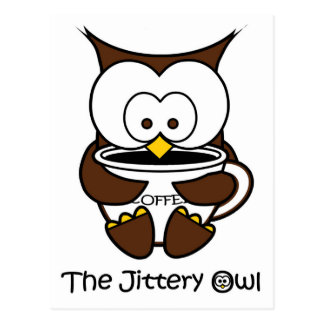 Jeffy The Jittery Owl White Mug Postcard