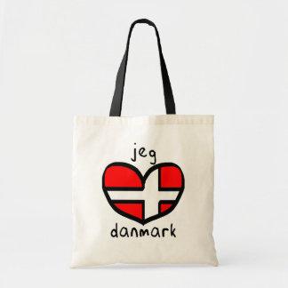 Jeg Elsker Danmark Bolsas Lienzo