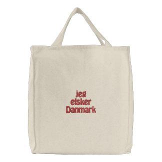 Jeg Elsker Danmark Embroidered Tote Bag