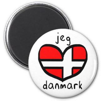 Jeg Elsker Danmark Refrigerator Magnets