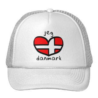 Jeg Elsker Danmark Trucker Hat