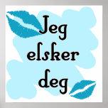 Jeg elsker deg - Norwegian - I love Poster