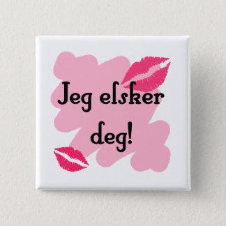 Jeg elsker deg - Norwegian I love you Button
