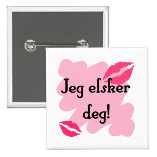 Jeg elsker deg - Norwegian I love you Button