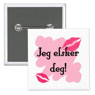 Jeg elsker deg - Norwegian I love you Pins